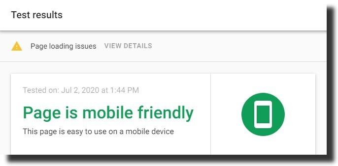 Google mobile-friendly test Dental Website Design
