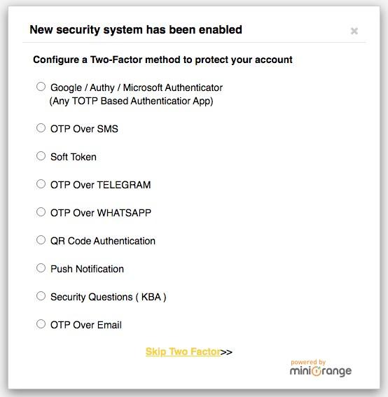 Configure Two-factor authentication