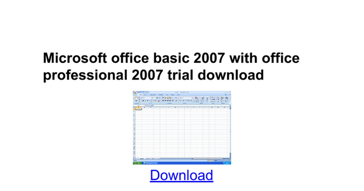 Microsoft office visio professional 2007 trial download