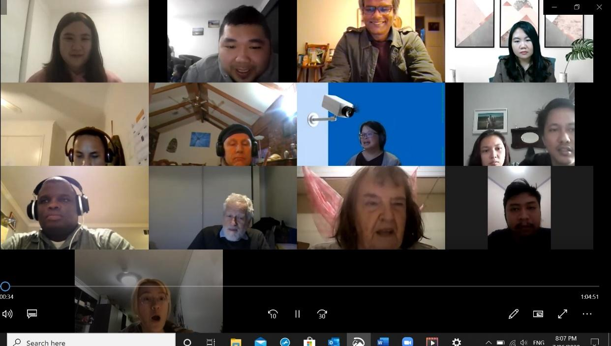 international Zoom meeting on gender equality lead by Yixin and Rado