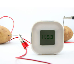 how to make a clock work with a potato