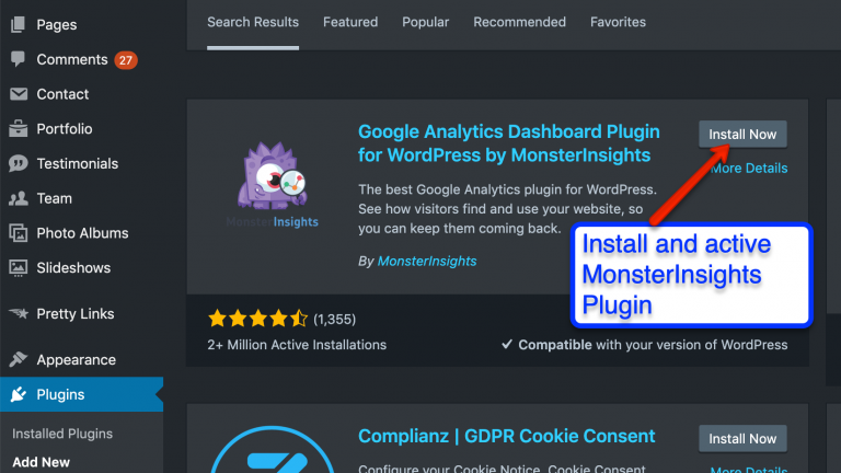 Install monsterinsights to track authors of your wordpress website