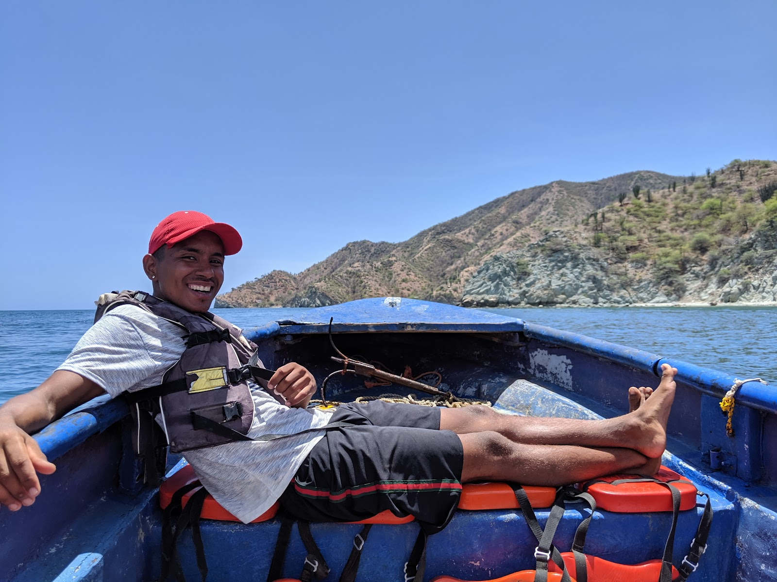 Boat ride from Taganga to Playa Grande in Colombia
