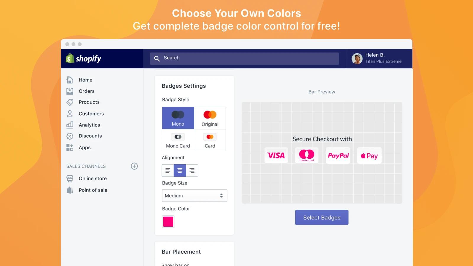 wonderful Shopify trust badge app