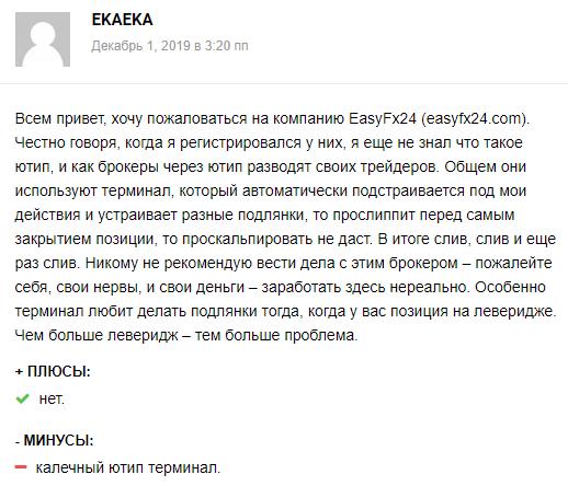 Независимый обзор EasyFX24: анализ деятельности брокера, отзывы