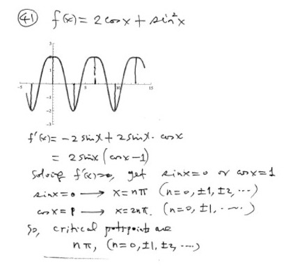 Calculus notes: Finding critical points of a function
