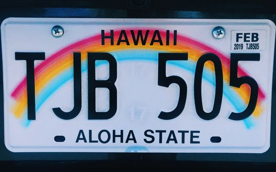 hawaii license plate // travel