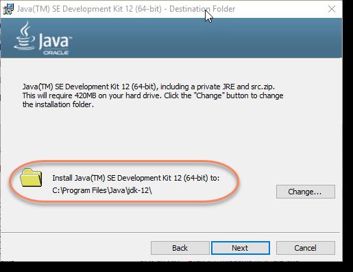 Install-Java-Location