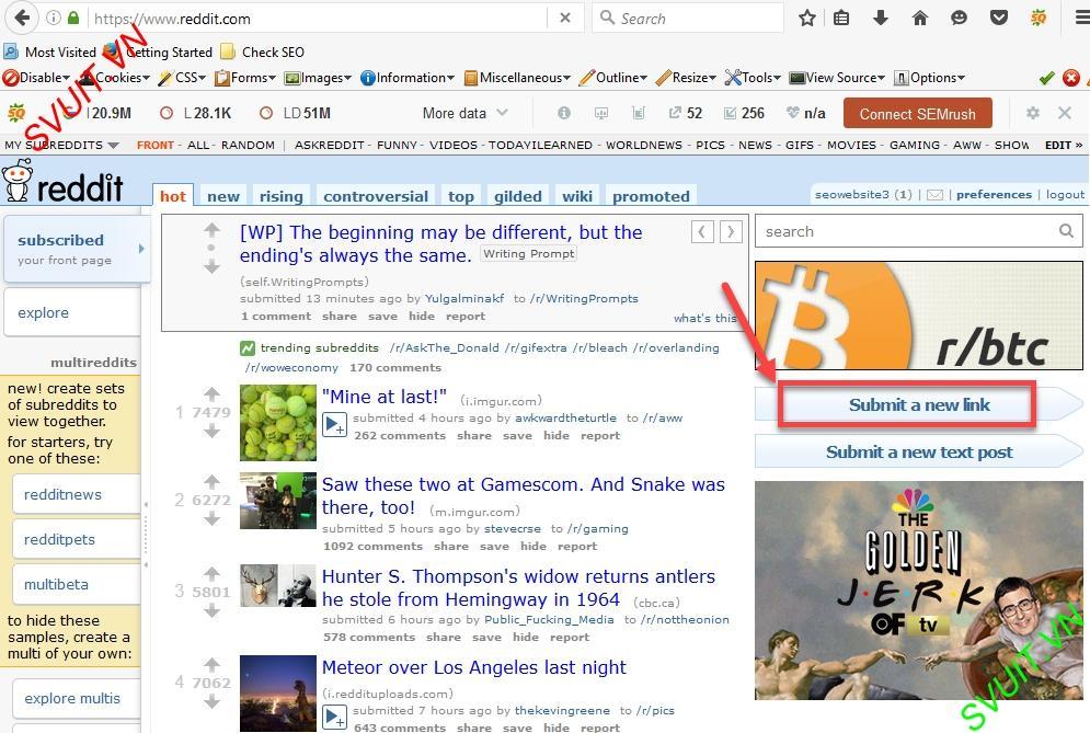 Backlink on Reddit.com(3)