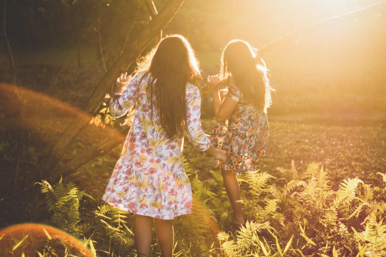 Girls enjoying an allergy-free spring day.