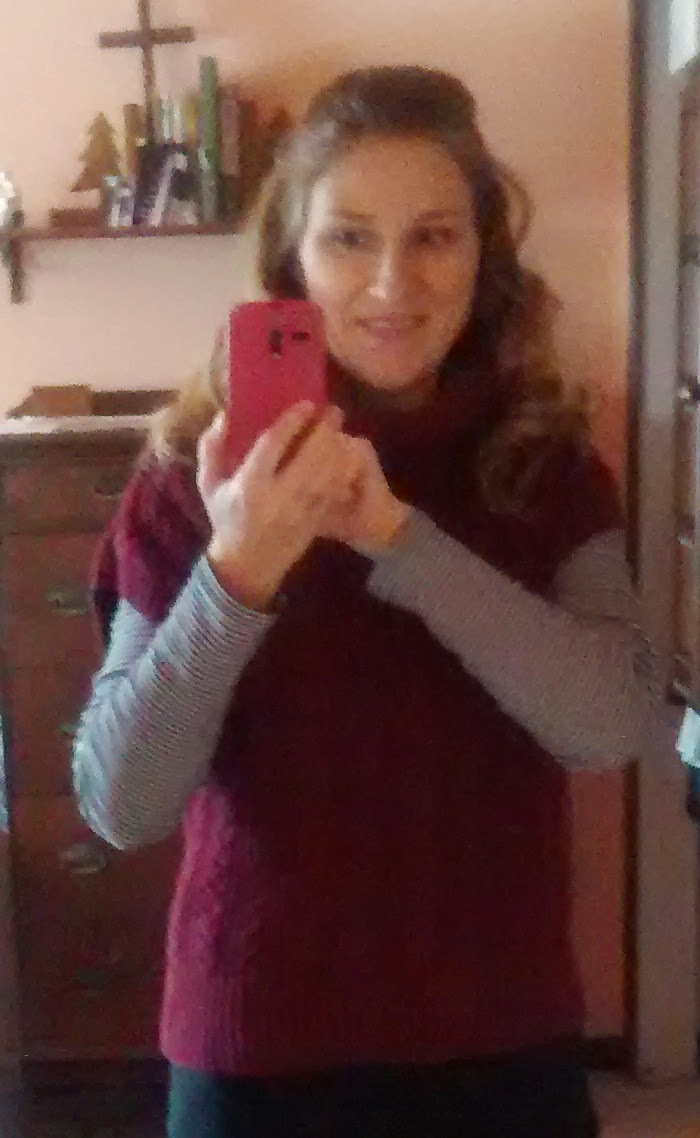 pampered teacher #selfie in Marsala outfit