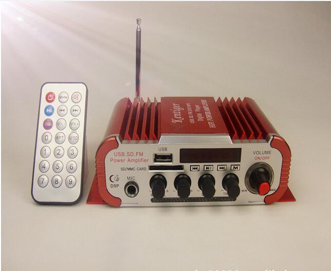 Mini USB SD FM stéréo trois en 1 Kentiger HY600 Amplificateur couleur bleue Microphone entrée de la télécommande 2 CH Car Amplificateur www.avalonlineshopping.com 4.jpg