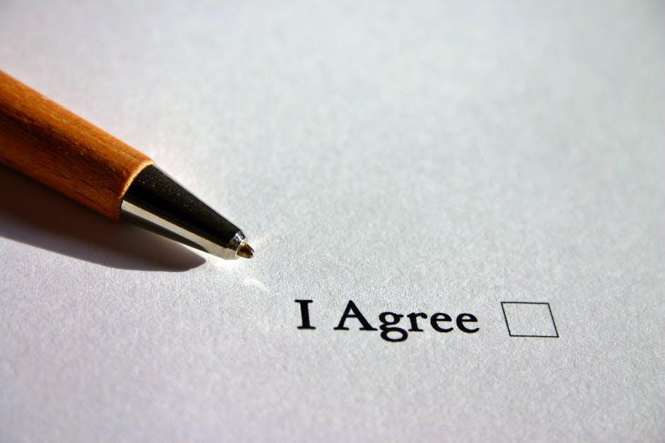agree, agreement, ankreuzen