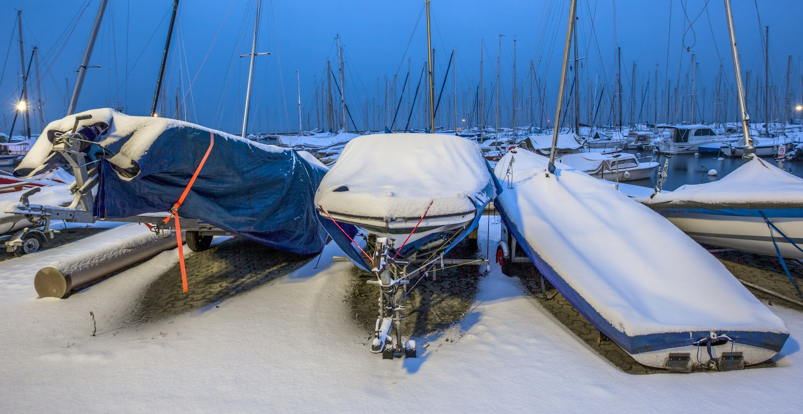 snow over vessels