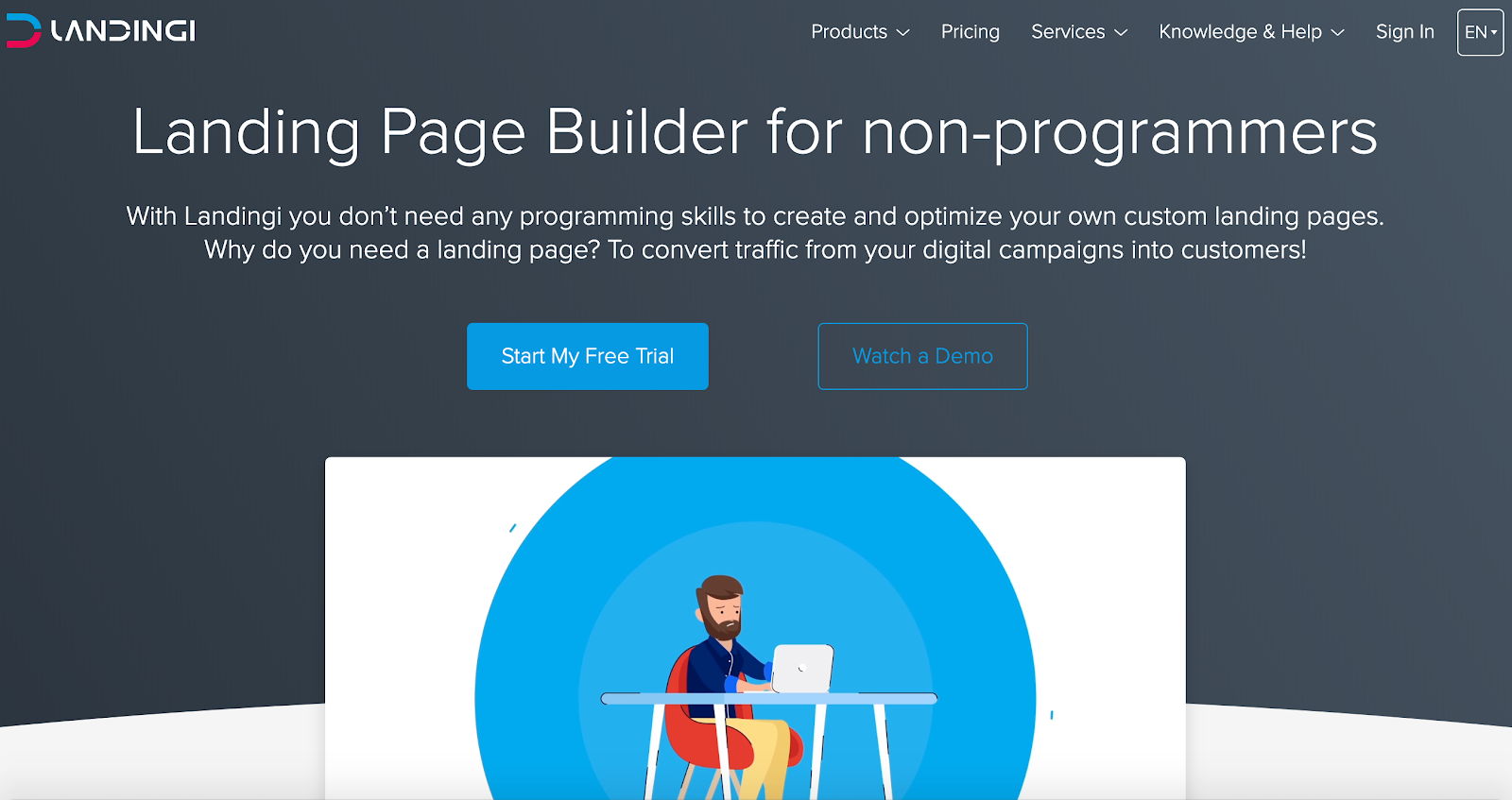 landing page builder for non-programmers