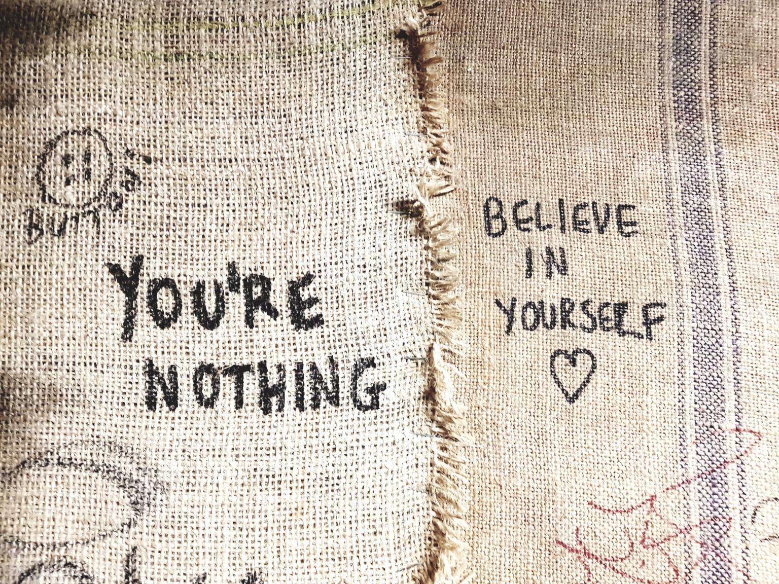funny zoom background photos - believe in yourself