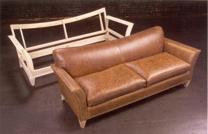 Каркасный диван из кожи своими руками