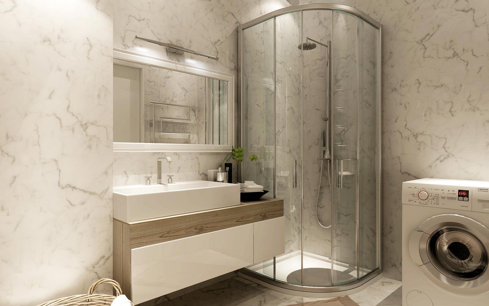 угловая ванна дизайн ванной комнаты