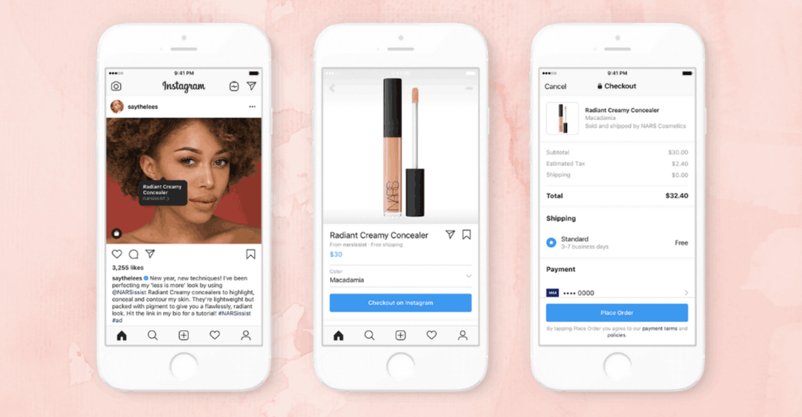 instagram native advertising for makeup on iphone