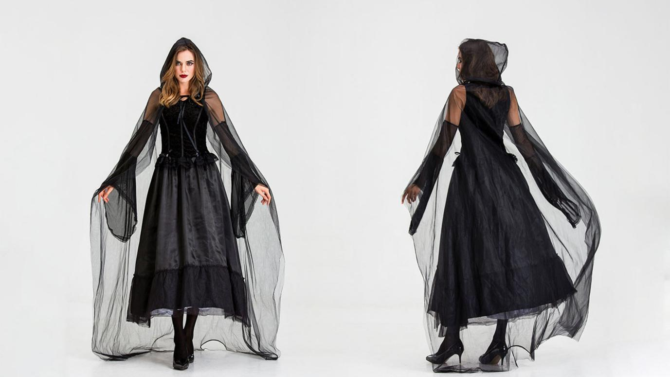 All-Black-Halloween-Costumes-Ghost-Bride-Cosplay-Costume-YtbCover