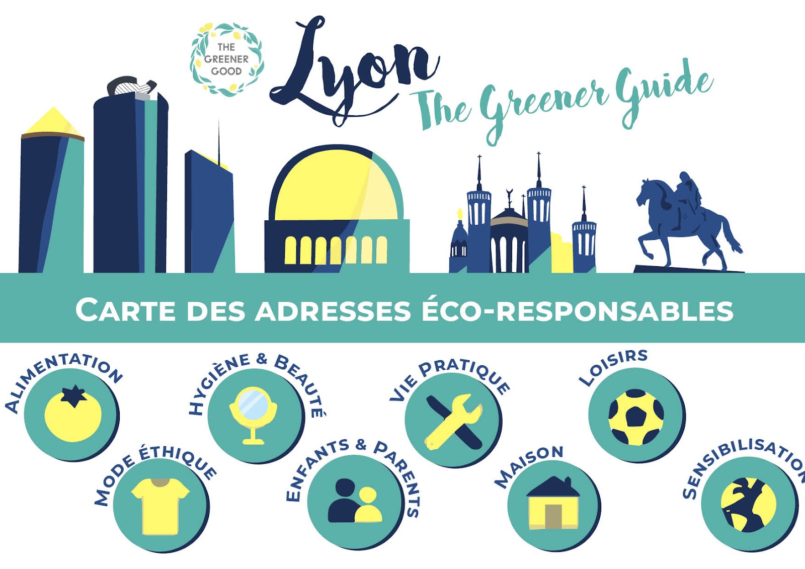 Carte interactive de Lyon qui répertorie les adresses éco-responsables de la ville