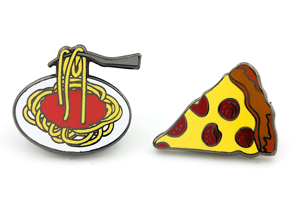 Spaghetti and Pizza Pins