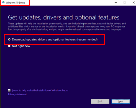Dynamic updates in Windows 10