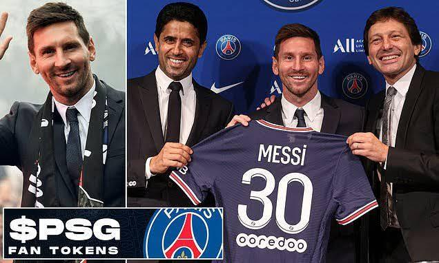$PSG was used to sign Lionel Messi in 2021