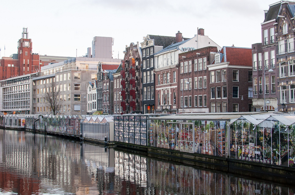 Bloemenmarkt's floating flower stalls