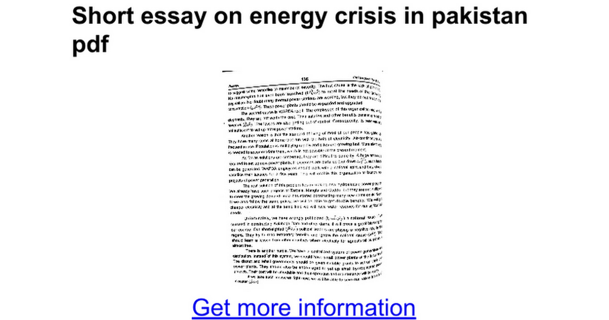 Essay On Energy Crisis Top Tips For Writing In A Hurry Essay Energy  Short Essay On Energy Crisis In Pdf Google Docs