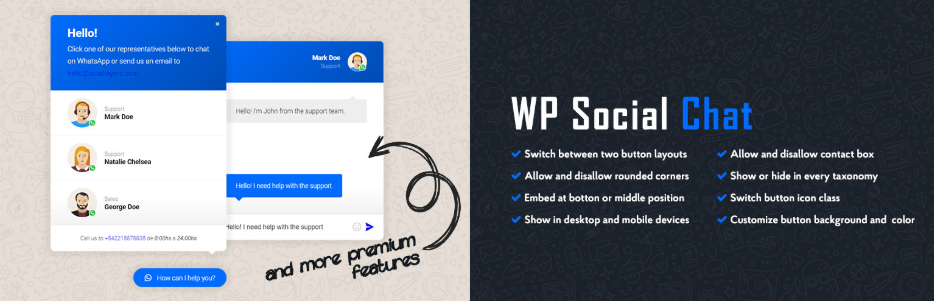 plugin whatsapp WordPress WP Social Chat