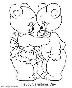 A happy valentine coloring page