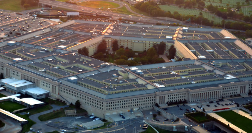 Aerial daytime view of The Pentagon