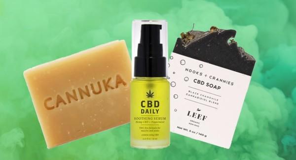 distintos productos con aceite cbd