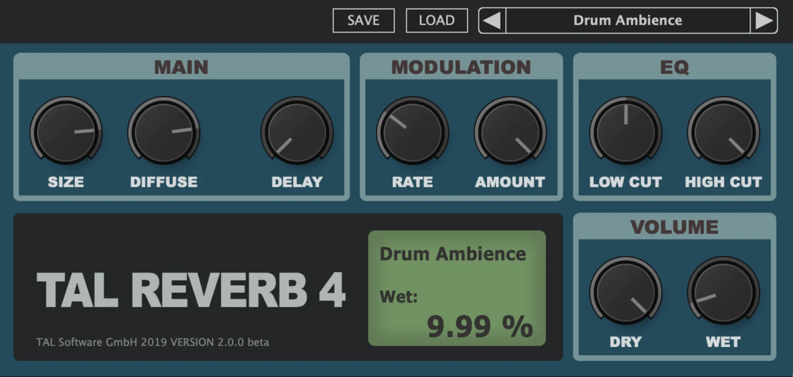 free audio plugins tal reverb