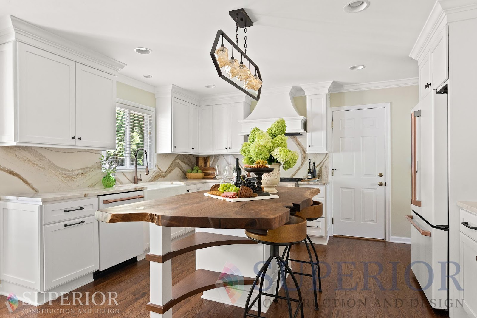 kitchen renovation plan cambria quartz lighting live edge walnut top budget mt juliet tn