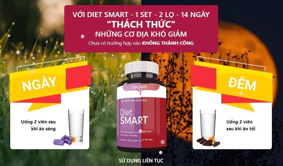 Cách sử dụng giảm cân Diet Smart hiệu quả