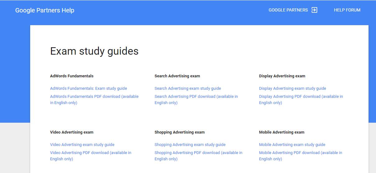 Google analytics certification study guide