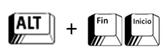 Alt + Fin/Inicio