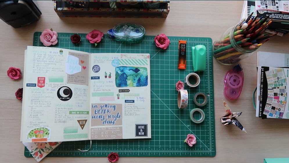 You can start with just a journal and a pen, or gather more art supplies.