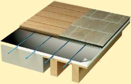 plancher chauffant sec le plancher chauffant par caleosol. Black Bedroom Furniture Sets. Home Design Ideas