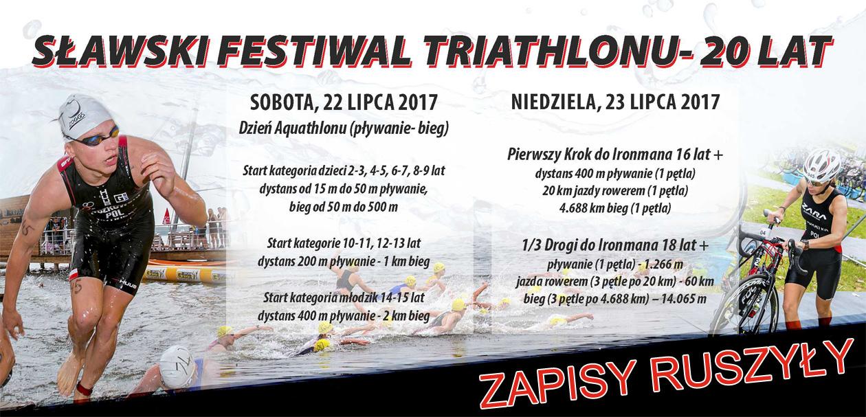 Sławski Festiwal Triathlonu 2017 dystanse.jpg