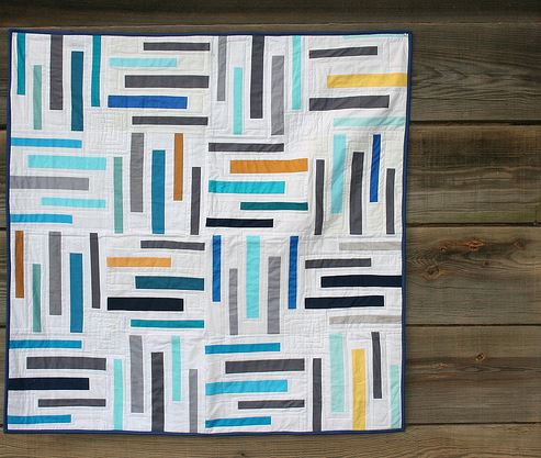 Quilt with Colorful Stripes
