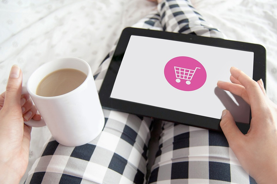 mobile commerce über ein tablet