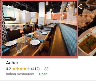 google my business for restaurants cover image