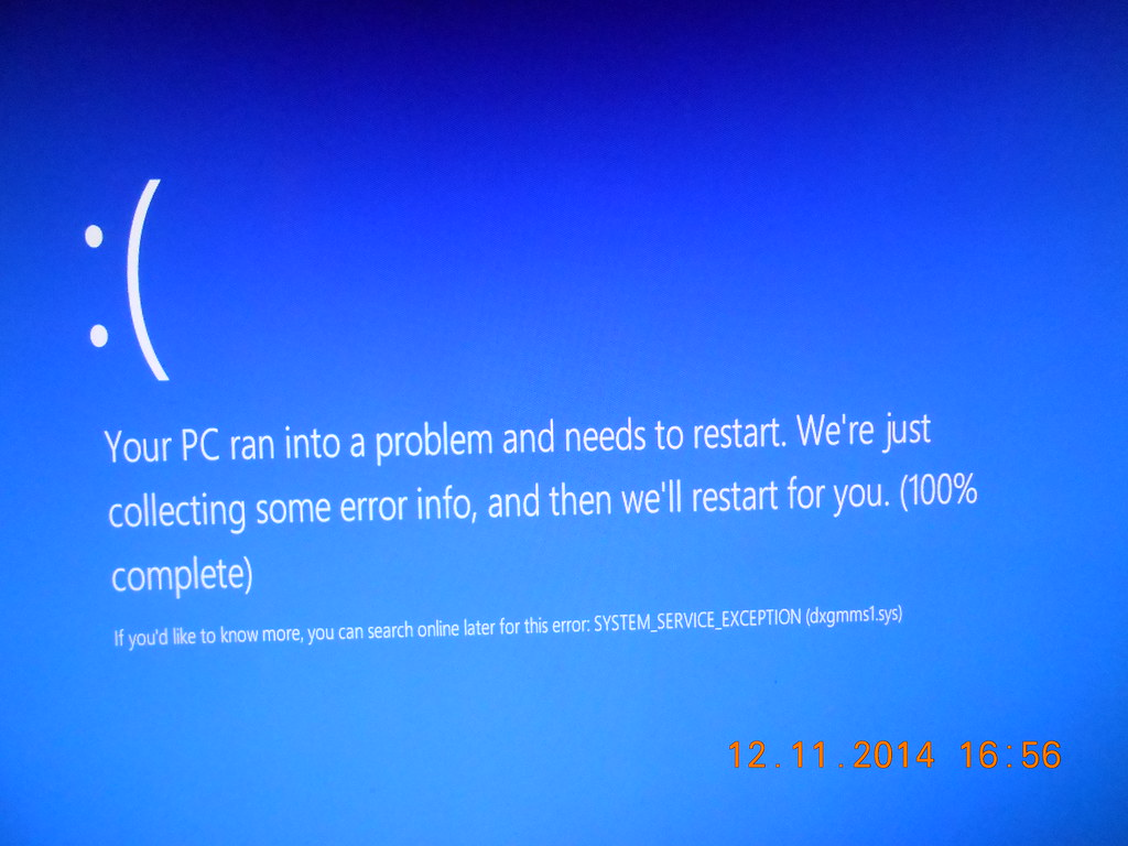 The SYSTEM_SERVICE_EXCEPTION error Blue Screen