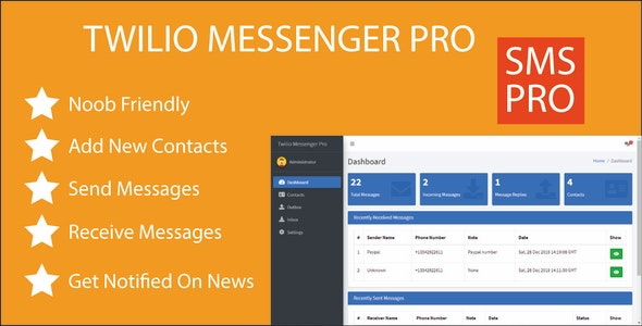 Twilio Messenger Pro - Easily Send & Receive SMS - CodeCanyon Item for Sale
