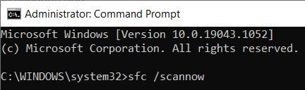 System File Checker command