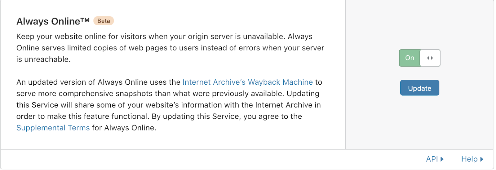 Cloudflare's Always Online and the Internet Archive Team Up to Fight Origin Errors