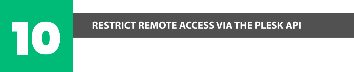 plesk security restrict remote access